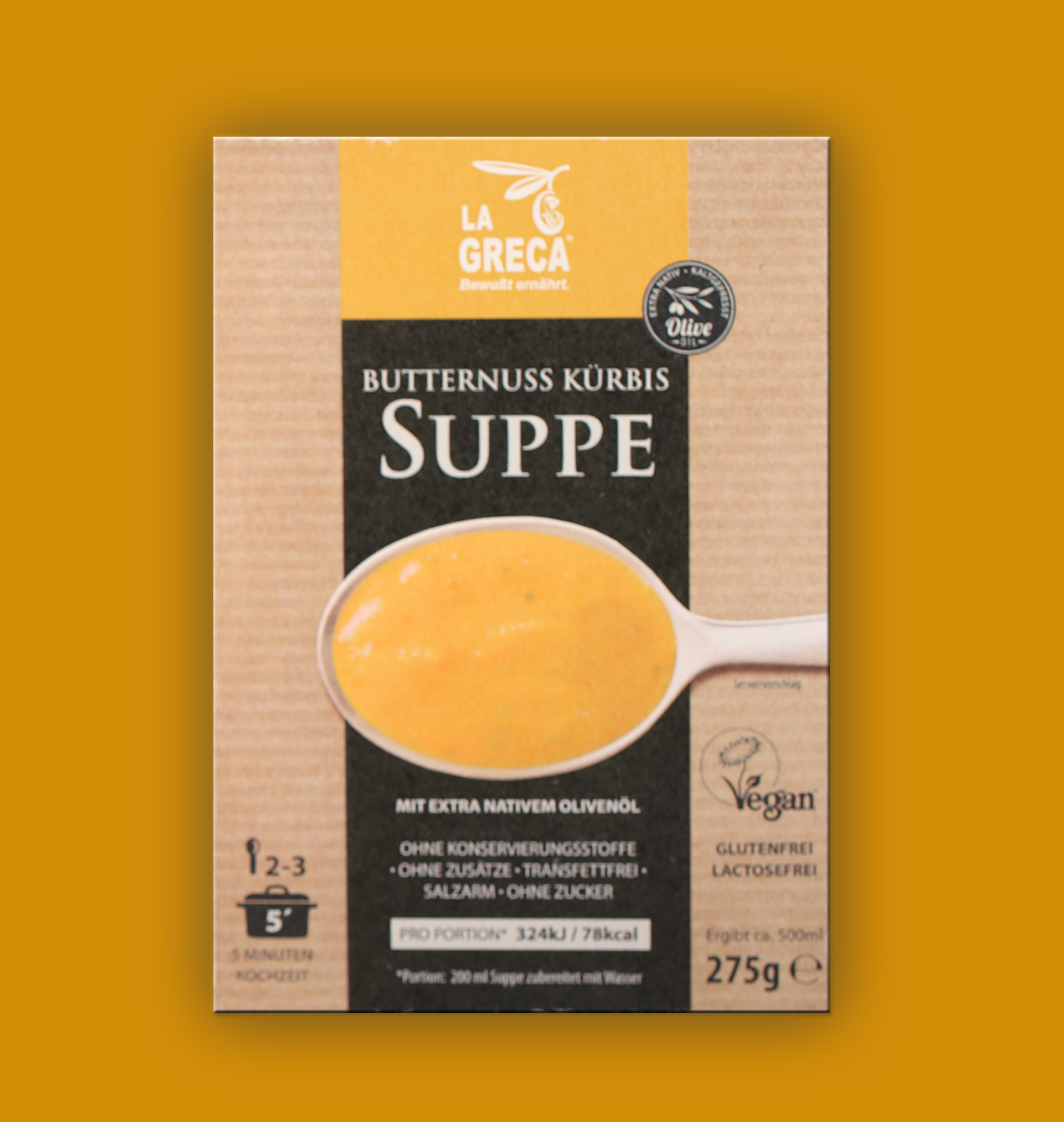 Butternuss Kuerbis Suppe LA GRECA FOODS